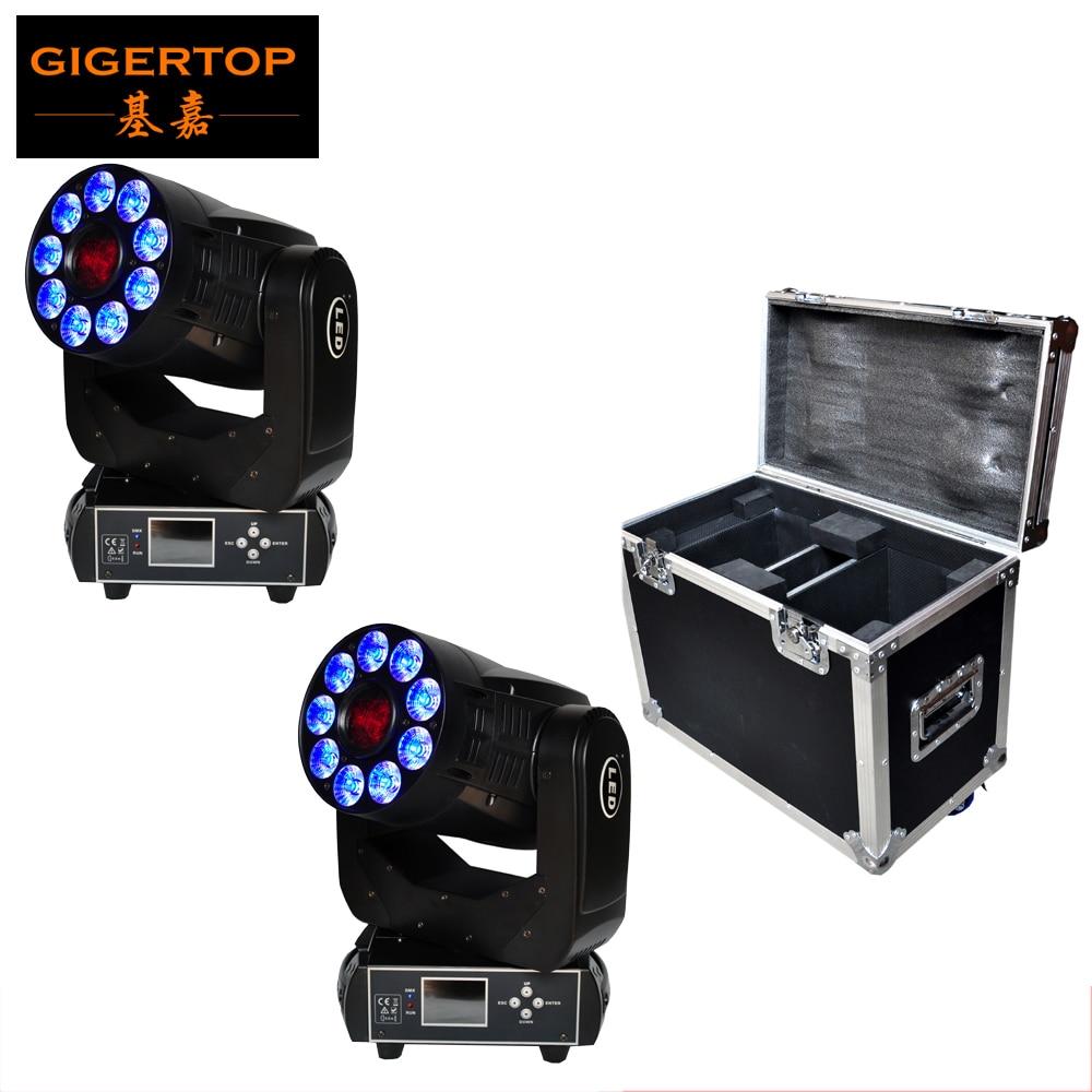 China Flightcase 2IN1 paquete Club 1*75 W + 9*12 W led de luz de la cabeza/etapa dj mini led Luz de cabeza móvil/foco de gobo