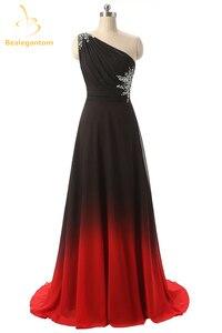 Женское длинное вечернее платье Bealegantom, длинное градиентное платье на одно плечо со шнуровкой, вечерние платья для выпускного вечера, QA1094, ...