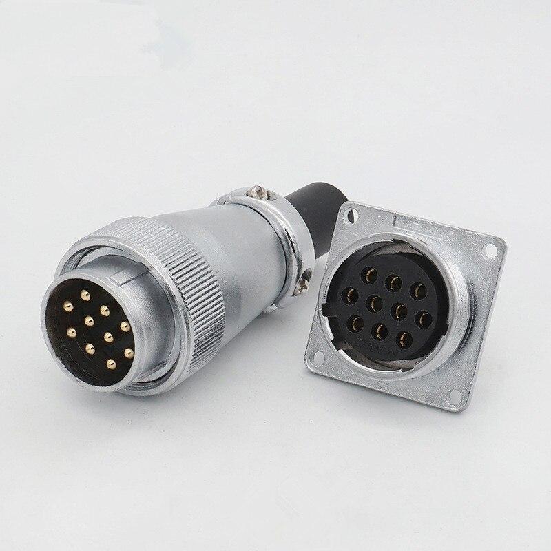 1 Juego de conector de aviación WS28 2/3/4/5/7/8/10/12/16/17/20/24/26 Pin conector TQ Z macho de aviación conector de conector enchufe hembra