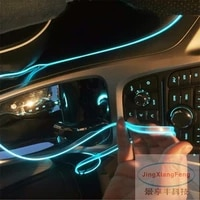 jingxiangfeng 1m led flexible neon light glow el wire car moto decorative lights 10 colors 12v atmosphere strips case for opel