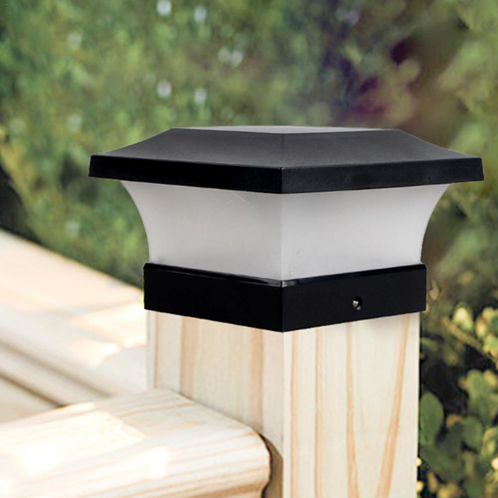 Luz Solar de la cerca lámpara de paisaje para jardín Post tapa lámpara 28LED impermeable al aire libre de la columna camino cubierta cuadrado Decoración Luz inteligente