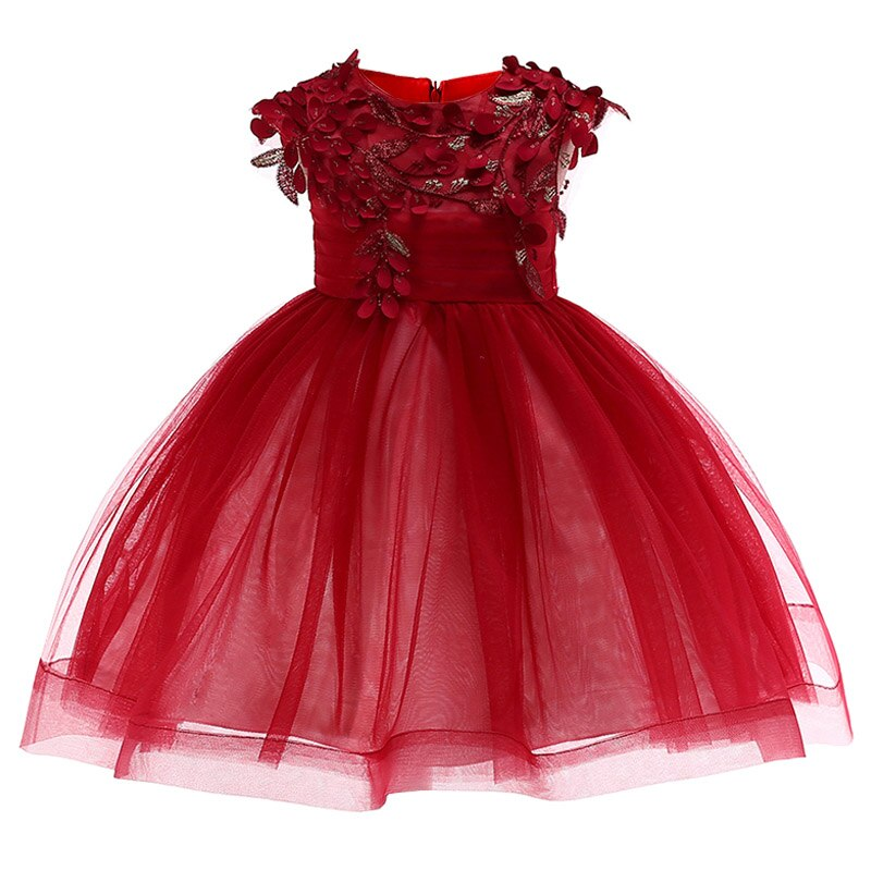 Girls floral Princess Party dress children clothes girl tutu dress For Wedding Toddler Elegant Prom baby girl christmas clothing