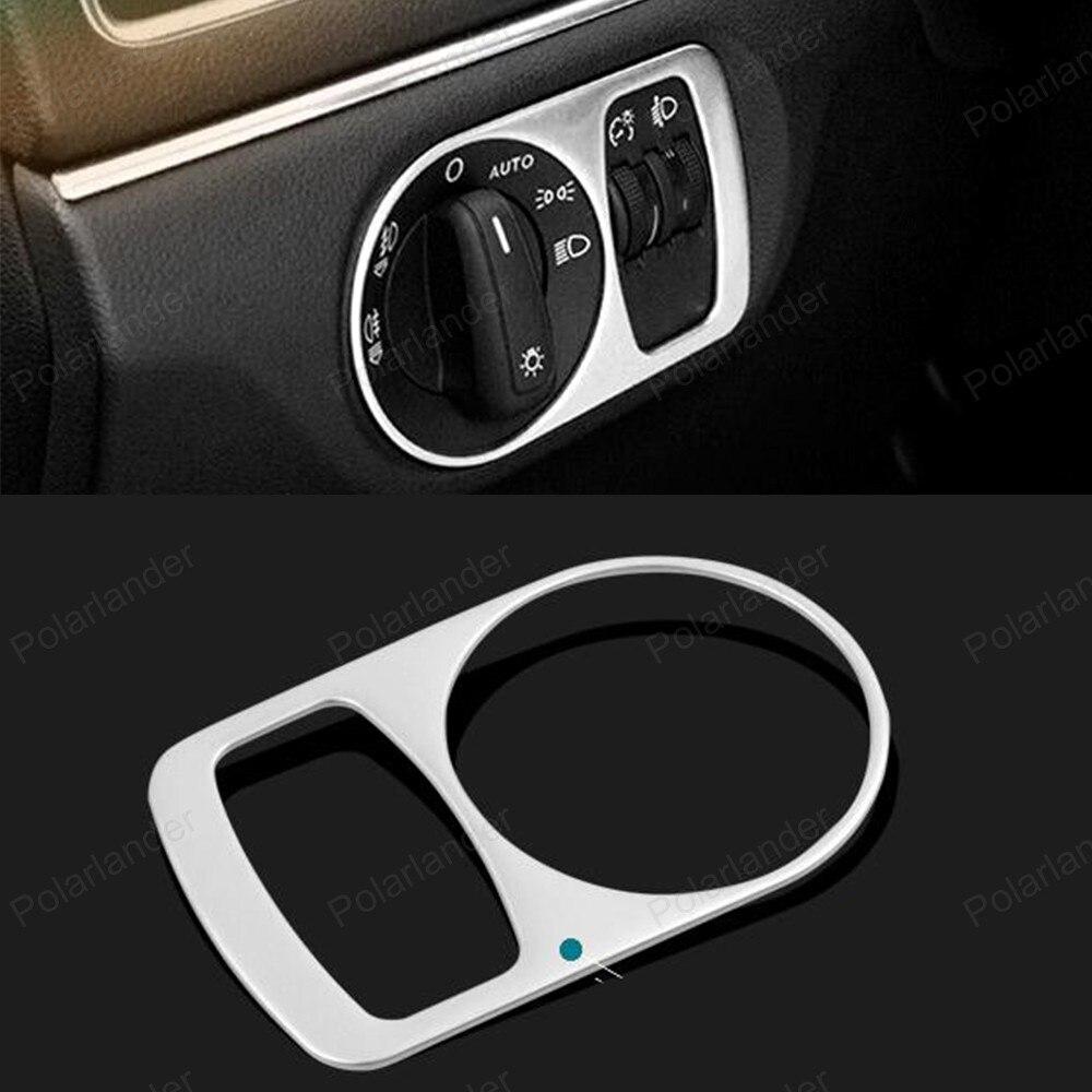 Cubierta de botón de control de luz de tablero para Audi Q3, pegatina embellecedora de acero inoxidable, accesorios de coche