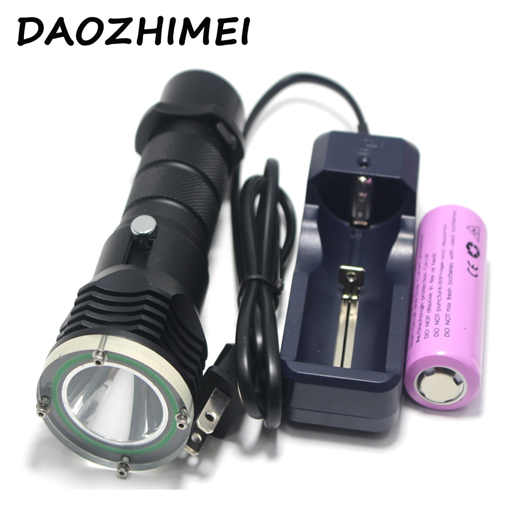 5000 Lumen XML L2 LED 100 meters Underwater Diving diver 18650 OR 26650 Flashlight Torch Light Lamp Waterproof