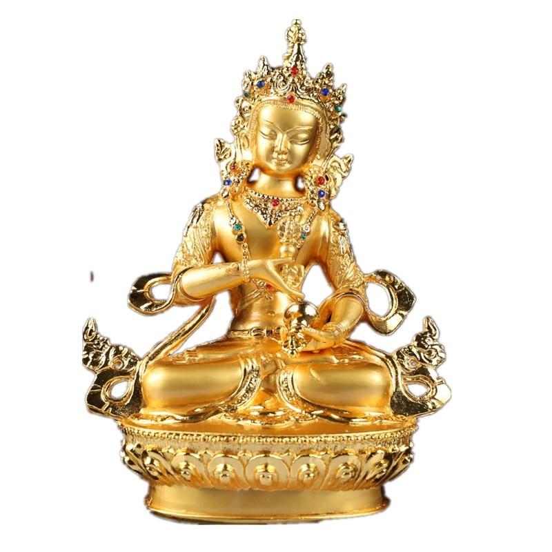 Estatua tibetana Vajrasattva Buda estatuilla Buda Bodhisattva escultura budista arte de Metal y artesanía decoración del hogar R55