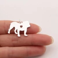 bull dog necklace pendant pendant dog memorial pet necklaces pendants women animal charms christmas gift