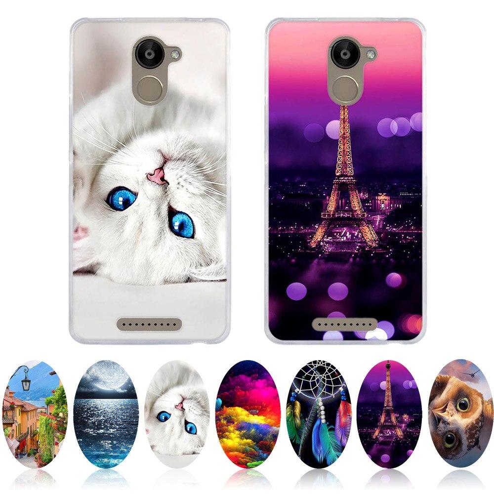Cat Bag For BQ Aquaris U Plus 5.0 Case 3D Painting Shell For BQ U Plus Back Cover Soft TPU For Aquaris U Plus Phone Cases Capa
