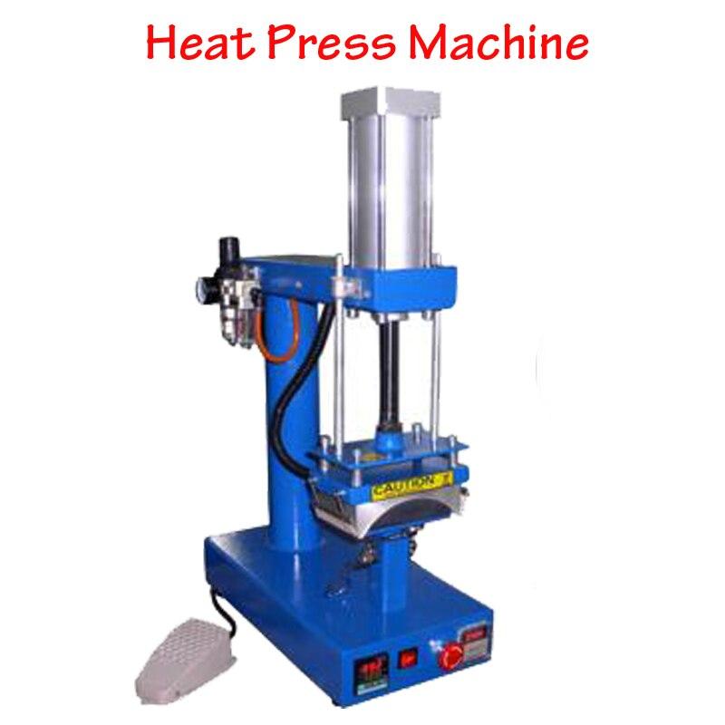 Пневматический термопресс для сублимационной печати на крышках/футболках, термопечатающая машина с руководством на английском языке CP815