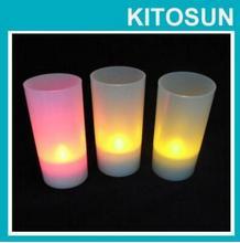 Pas cher thé lumières 12X LED mariage backgroud décor petit bougies LED sans flamme