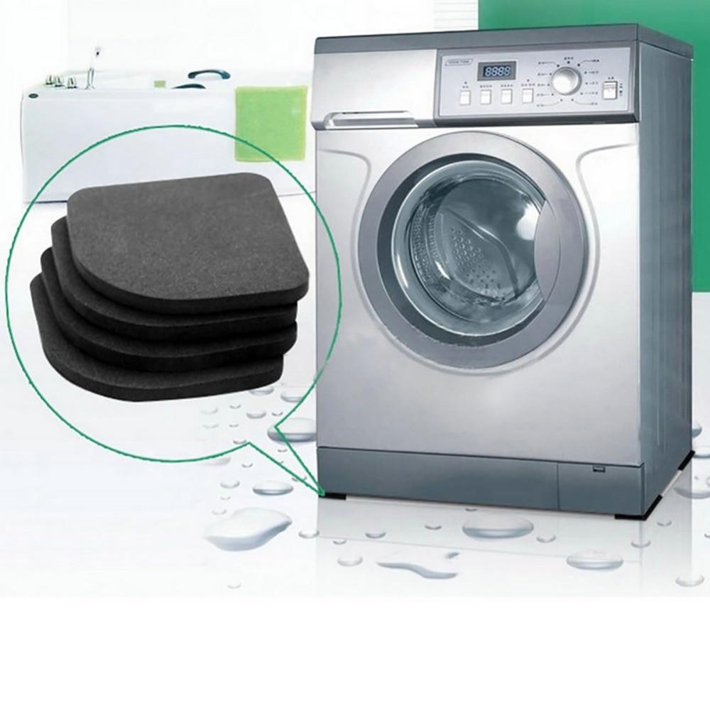 4 unids/set refrigerador alfombrilla antivibración Multi-función lavadora reducción de golpes almohadilla de ruido esteras antideslizantes accesorios de baño