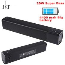 Neue JKR KR-1000 Bluetooth Lautsprecher 20W Subwoofer Stereo Box Lautsprecher Wireless Spalte 4400mAh Super Bass für pc mobile telefon