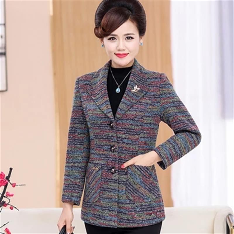 ¡Novedad de 2018! chaqueta de gran tamaño elegante y de gran calidad para primavera y otoño para Mujer, chaqueta Blazer de color gris para Mujer 5XL