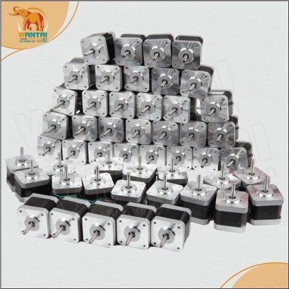 wantai cnc router 60pcs 2800g-cm 28N.cm 40mm 0.4A 4Lead  Wires Nema17 Stepper Motor 42BYGHW208,3D printer,CE&ISO&ROHS