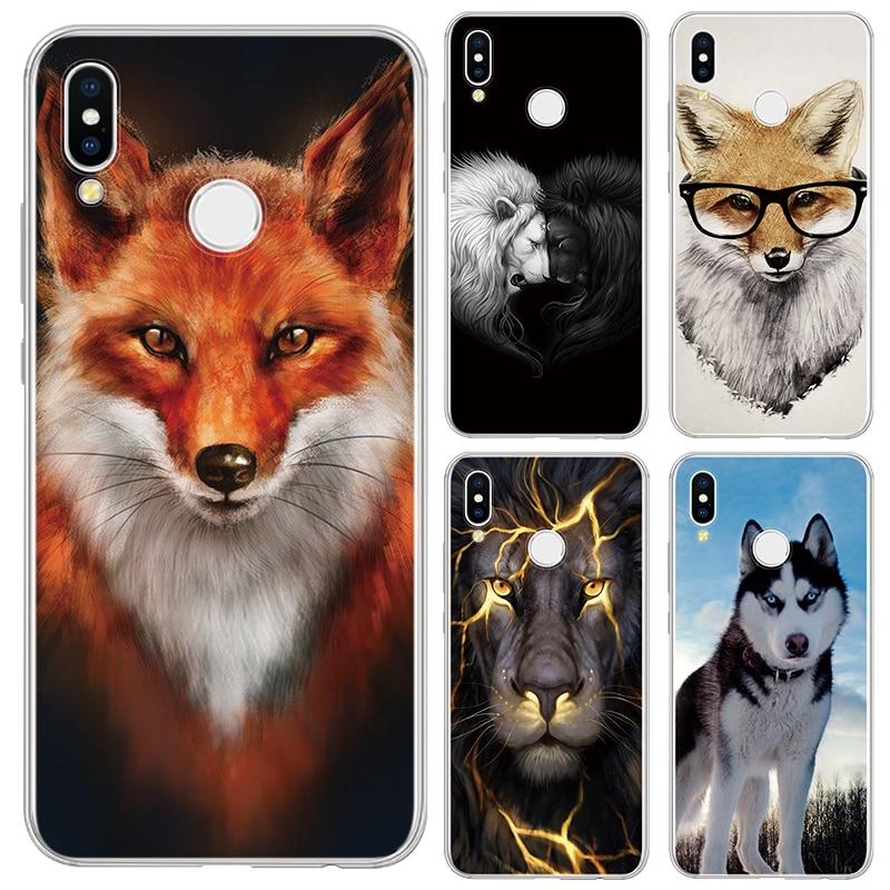 Fox Lobo TPU Caso Capa de Silicone Para Huawei Honor 20i 8X 8C 8 7C 7 7X 7A 6X 6C 6A 5X 5C 4C 4A Vista 20 Pro 10 9 Lite Jogar 8A Caso
