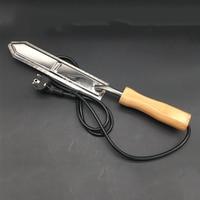 EU Plug Electric Honey Knife Bee Beekeeping Equipment Cutting Knife Heating Handle Wooden Tools Stainless Steel Scraper