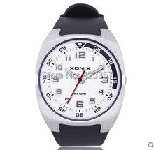 Brand  Mens Sports Casual Watch Quartz Analog  Waterproof 100m Resin Strap Swim Watch Numbers Dial
