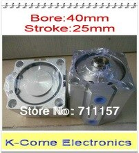 "SDA 40*25 Pneumatic 1/8"" Port Compact Cylinder 40mm Bore 25mm Stroke SDA 40-25 40X25 Thin Cylinder"