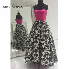CRYSTAL JIANG New Fashion Sweetheart A Line Formal Dress Custom made Front Ankle Length Long Back Fl