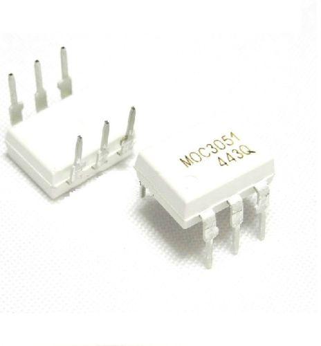 5 PCS IC MOC3051 OPTOCOUPLER TRIAC-OUT 6-DIP NEW