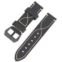 18mm 20mm 22mm 24mm 26mm soft stitch leather watchband comfortable replacement strap leather black yellow grey watch band