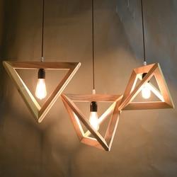 Cozinha De Madeira moderno Lustre Sala de estar Pendente Lamparas Luminária Lustre Iluminação Loft Decoração CONDUZIU a Luz Da Ilha Hanglamp