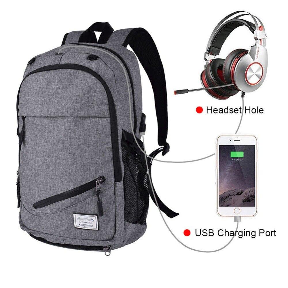 Mochila Unisex de viaje para portátil de 15,6 pulgadas, mochila antirrobo para portátil con cargador USB, mochila escolar para estudiante, mochila Rugzak Rugtas