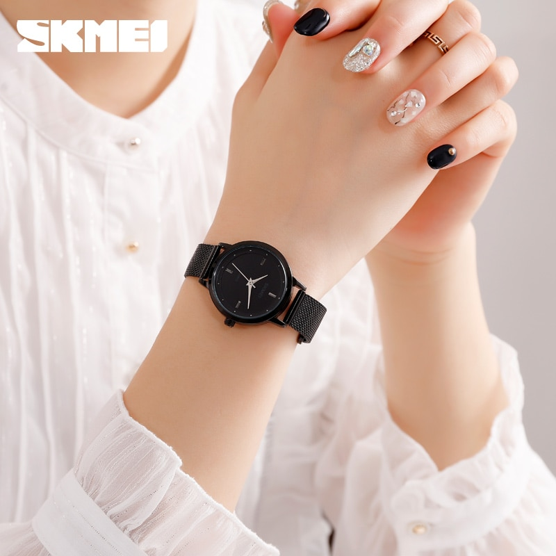 SKMEI Simple Ladies Wristwatches Female Business Watch Top Brand Fashion Women Quartz Watch Montre Femme 1528 enlarge