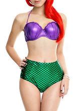 Nouveau femmes sirène Bikini ensemble maillots de bain Bandeau push-up Shell soutien-gorge maillot de bain Sexy taille haute vêtements de plage