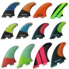 Srfda livraison gratuite palmes de SURF THRUSTER SET bleu FCS II G5 nouvelle nageoire de SURF en fibre de verre avec ailettes en carbone taille M