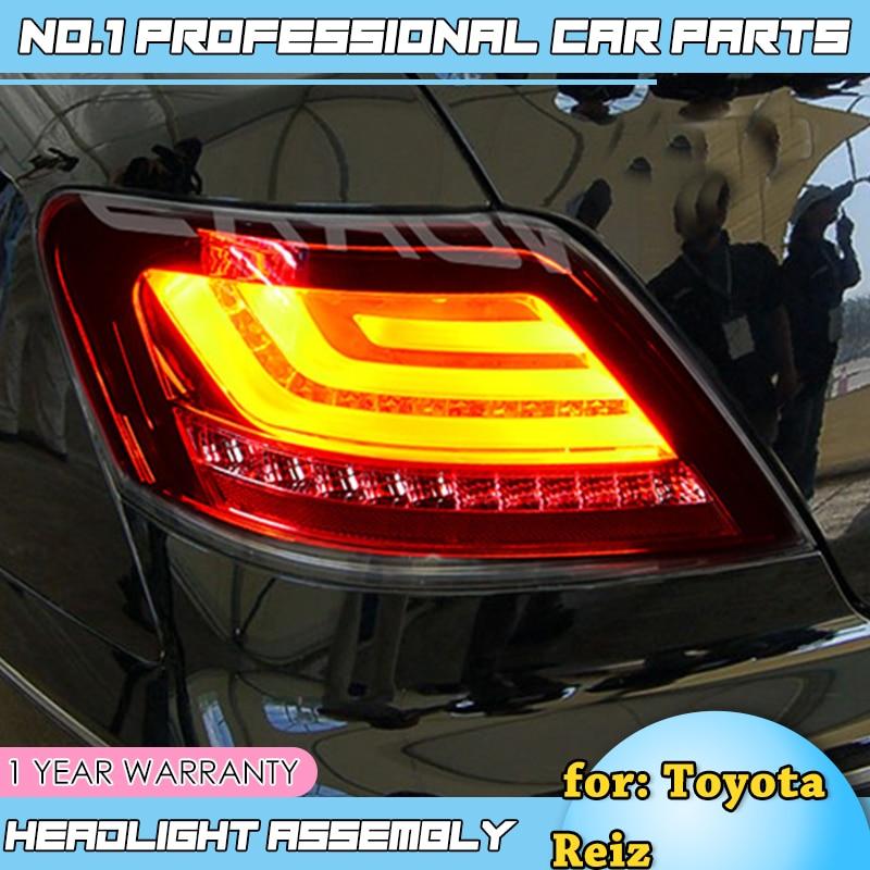 Accesorios de coche para Toyota Reiz Mark X LEDTail Lights 2004 2009 Mark X LED trasero lámpara DRL + freno + Parque + señal
