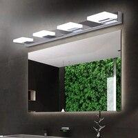 Nordic AC110-240V LED Mirror Headlights Acrylic Bathroom Stainless Steel Bathroom Lamp Dressing Table Waterproof Mirror Lamps