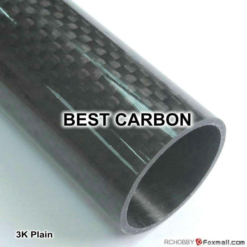 Free shiping 2pcs x 25mm x 22mm x 2000mmm High Quality 3K Carbon Fiber Fabric Wound Tube