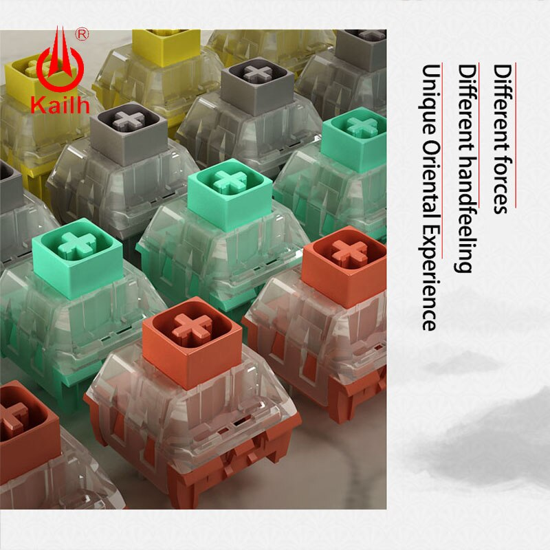 Купить с кэшбэком kailh  box Switch diy mechanical keyboard  RGB/SMD Chinese style series Glazed green Noble yellow Ancie
