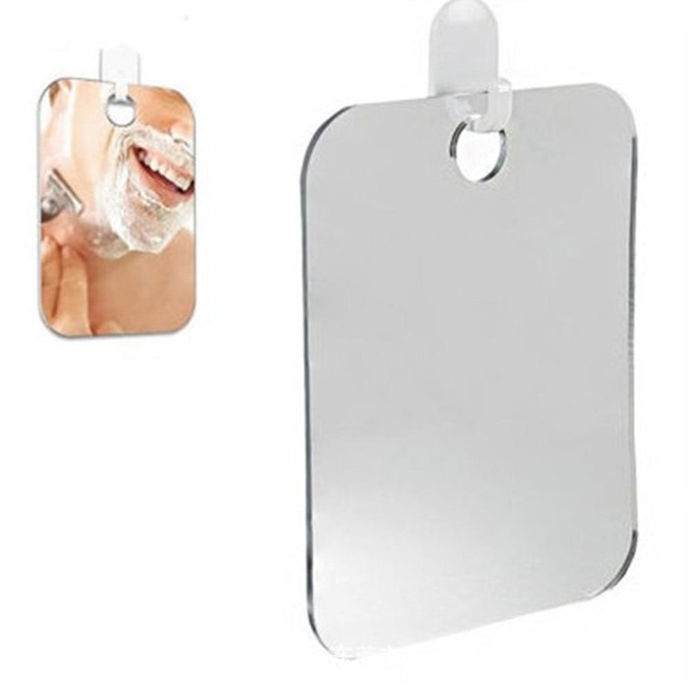 Акриловое противотуманное зеркало для душа, ванная комната, без тумана, без тумана, зеркало для мытья, для путешествий, для мужчин, зеркало для бритья 13*17 см