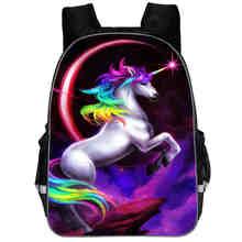 Sac à dos licorne Dab petit poney arc-en-ciel cheval adolescents garçons filles enfant en bas âge Animal enfant livre décole sacs homme femme Mochila Bolsa