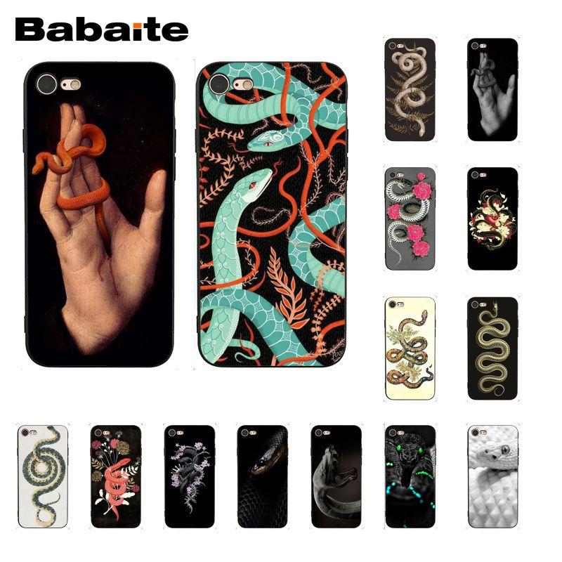 Чехол для телефона Babaite с изображением змеи цветка для iphone 11 Pro 11Pro Max 8 7 6 6S Plus X XS MAX 5 5S SE XR