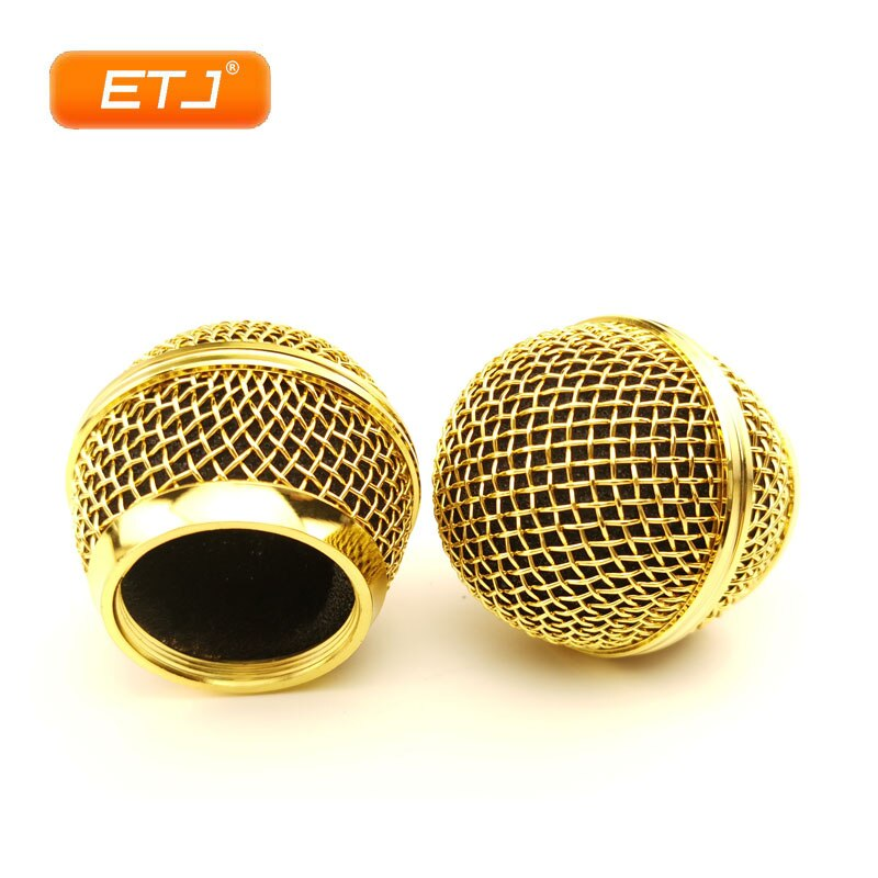 2 uds Bola de rejilla para SM 58 Bola de malla pulida micrófono dorado reemplazo envío gratis