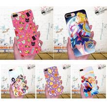 Caja de goma del teléfono celular para Samsung Galaxy J1 J2 J3 J330 J4 J5 J6 J7 J730 J8 2015, 2016, 2017, 2018 Mini Pro Sailor Moon Anime