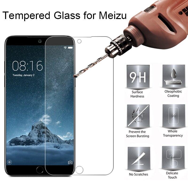 Vidrio templado para Meizu Note 9 15 16 16 16 x M8 V8 Lite Plus M15 C9 pro M6T M8c Protector de pantalla 9H funda protectora