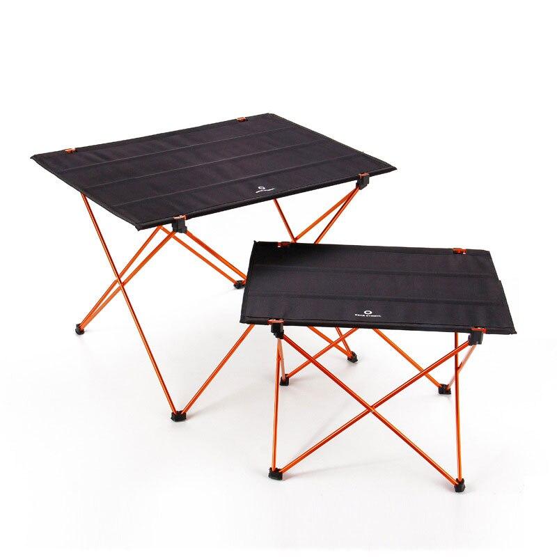 Mesa de bricolaje portátil para exteriores silla plegable Camping barbacoa senderismo viaje Picnic 7075 aleación de aluminio ultraligero M L