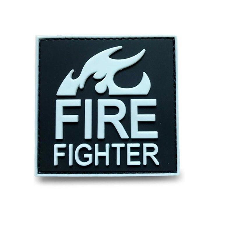 Insignia táctica 3D de PVC, bomberos, uniformes rojos y negros de rescate, Boutique, línea roja, fuego médico, insignias adhesivas morales