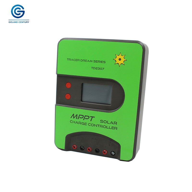 Goland Century precio barato TD2307 12V 24V funcionamiento automático Max 75V MPPT 30A cargador de batería, controlador Solar para sistema de paneles solares