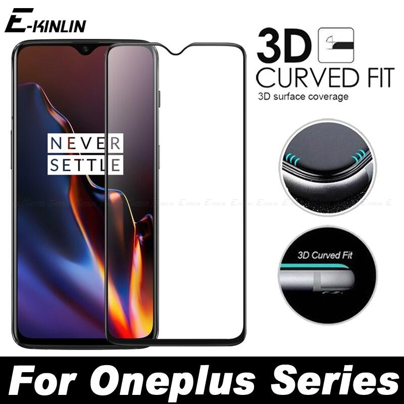 Cubierta completa 3D borde curvado Ajuste de vidrio templado para One Plus OnePlus 8 Pro 7T 7 6T 6 5T 5 A6010 A6000 A5010 película protectora de pantalla