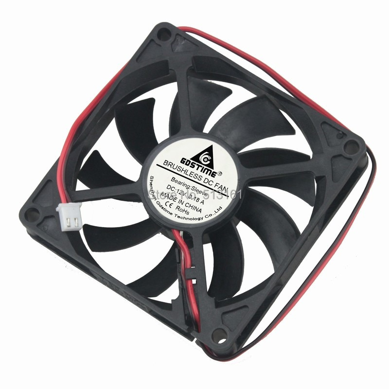 5pcs/lot Gdstime PC Computer Fan 80mm 8015 8cm Silent DC 12V Chassis Power Cooling Fans