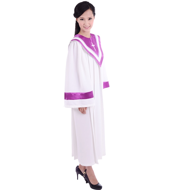 Clero Coro Juiz Robe Freira vestes compridas roupas igreja Padre Da Igreja Cristã Traje para adultos para adultos black Friday