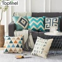 topfinel geometric decorative throw pillows cases linen cotton cushion cover creative decoration for sofa car covers 45x45cm