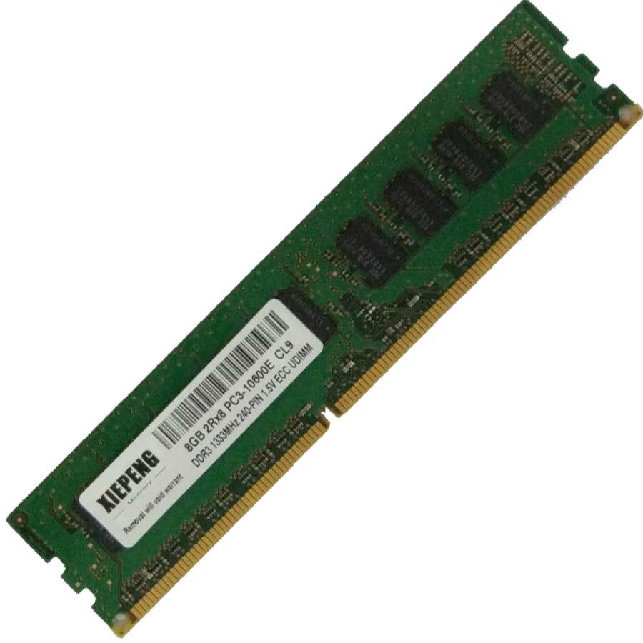 Para dell poweredge r520 r610 r620 r715 r720 t310 ram 8 gb ddr3 1333 mhz unbuffered DDR3-1333 memória ecc 4 gb 2rx8 PC3-10600E