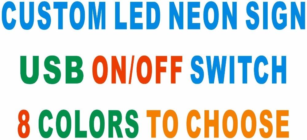 Señales de luz de neón LED personalizadas con interruptor de encendido/apagado 8 colores para elegir Placa de luz
