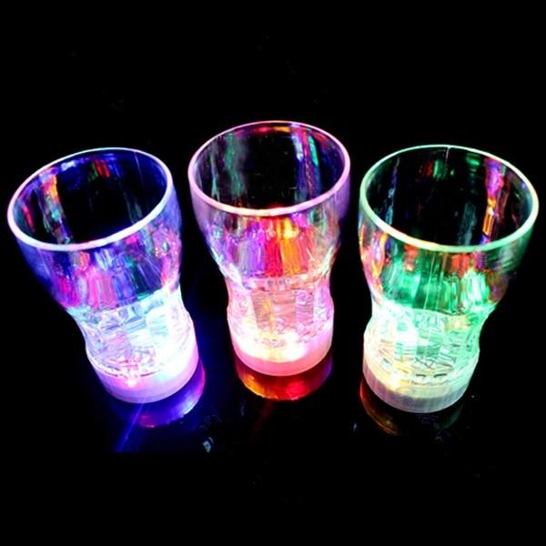 Creativa taza de cerveza LED de colores, luces Flash, BARRA DE VIDRIO de bebida, KTV Club nocturno, Lámpara decorativa