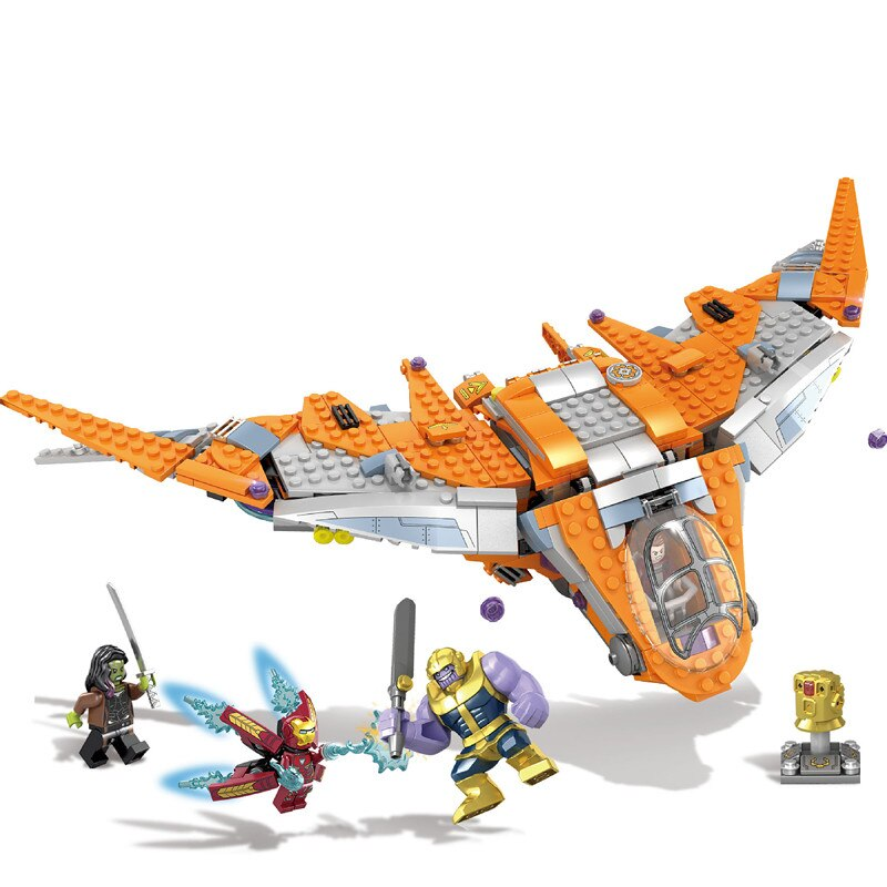 Nuevos vengadores 4 final Super héroe de guerra del infinito Thanos de hierro hombre batalla final 76107 76108 Juguetes de bloques de construcción, regalo